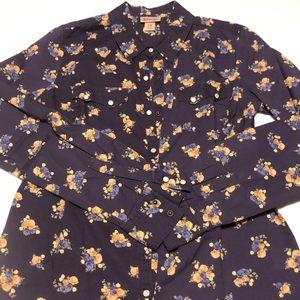 Floral Button Snap Blouse